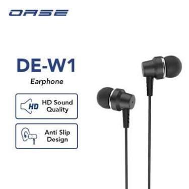 OASE Wired Earphone Headset In Ear HD Audio Headphone Handsfree Cable 120cm Garansi Resmi 6 Bulan DE-W1
