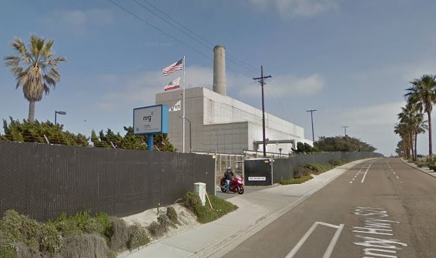 NRG Energy's Encina Power Station in San Diego County. Image from Google Maps street view.