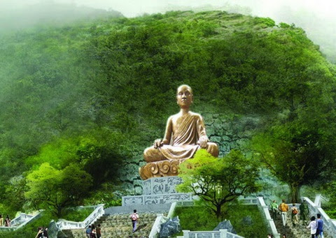 Tượng vua Trần Nhân Tông tu hành (Ảnh qua phatgiaophuyen.com)