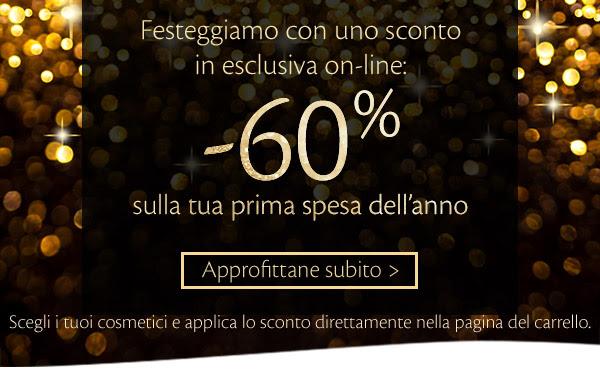 Sconto esclusivo -60% per la tua prima spesa 2016