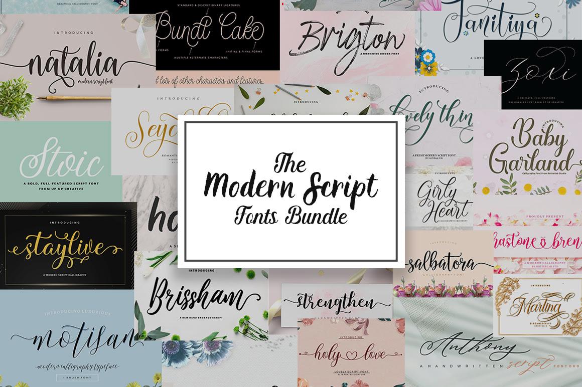 The Modern Script Fonts Bundle