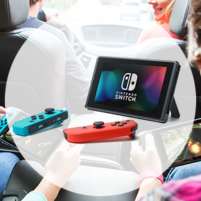 Nintendo Switch Console with Neon Blue & Neon Red Joy-Con