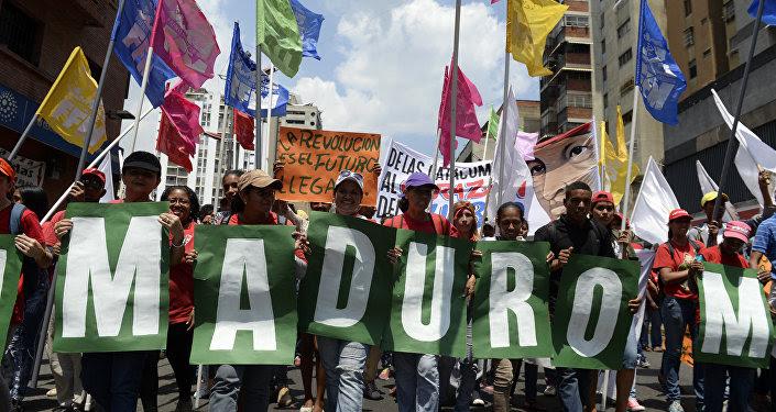 Seguidores del presidente venenzolano, Nicolás Maduro