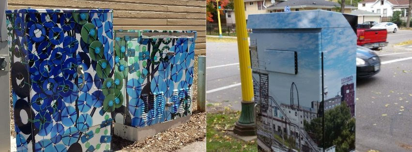 Art Wraps on utility boxes