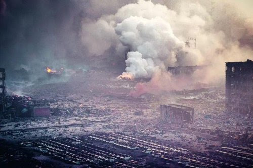 Hiện trường Thiên Tân hôm sau vụ nổ