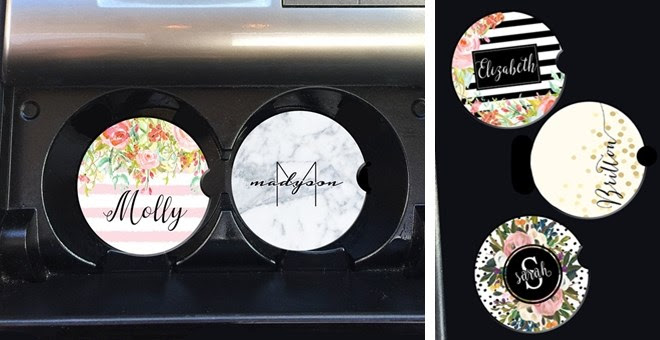 Personalized Car Coasters + Mo...