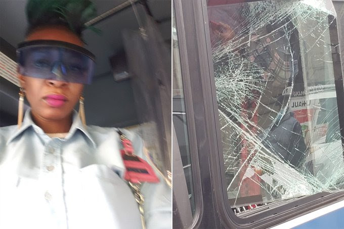 Stranger saves New York bus driver from violent attack