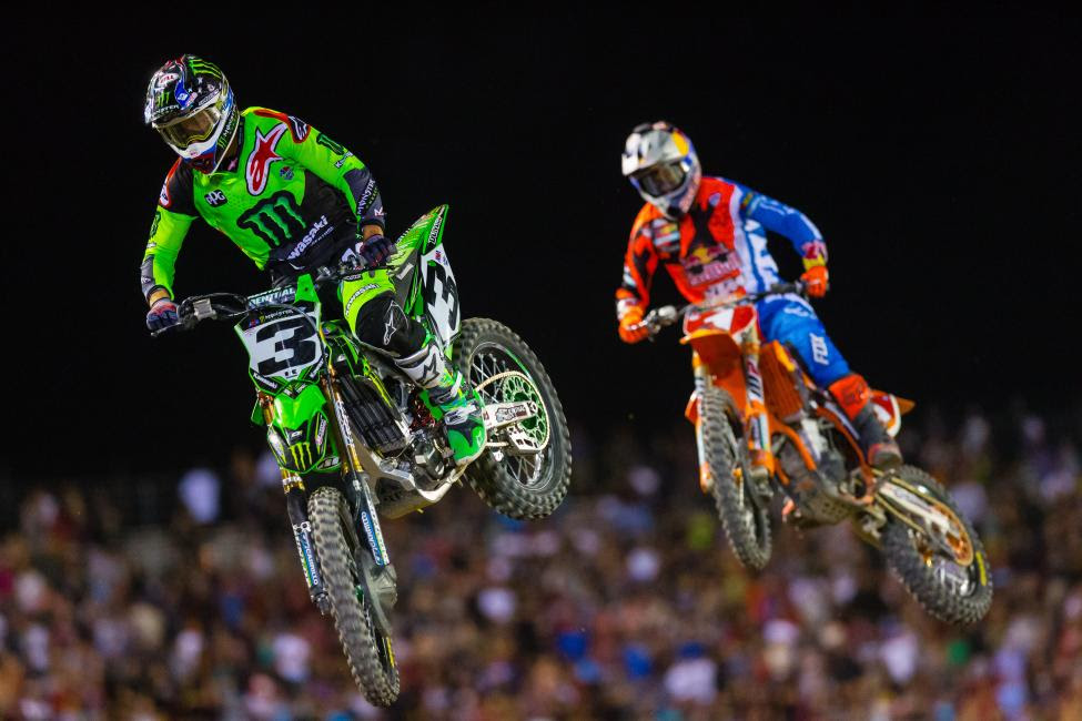 Tomac (3) provided a fierce challenge to Dungey, winning nine races. He finished runner-up in last season's Lucas Oil Pro Motocross Championship.Photo Courtesy: Jeff Kardas