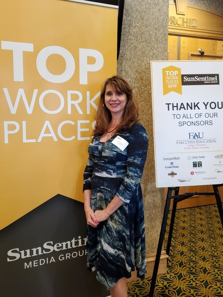 Lisa Granata, Cruisitude Engagement Ambassador, Cruise Planners, at Top Workplaces Awards Ceremony & Dinner