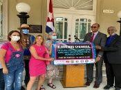 Amigos de Cuba en Estados Unidos anunciaron que dos millones de jeringuillas ya arribaron a puerto cubano el 17 de julio pasado.