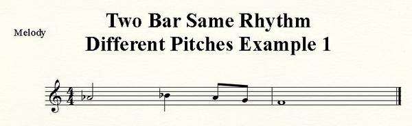 Two Bar Retrograde Inversion with Same Rhythm