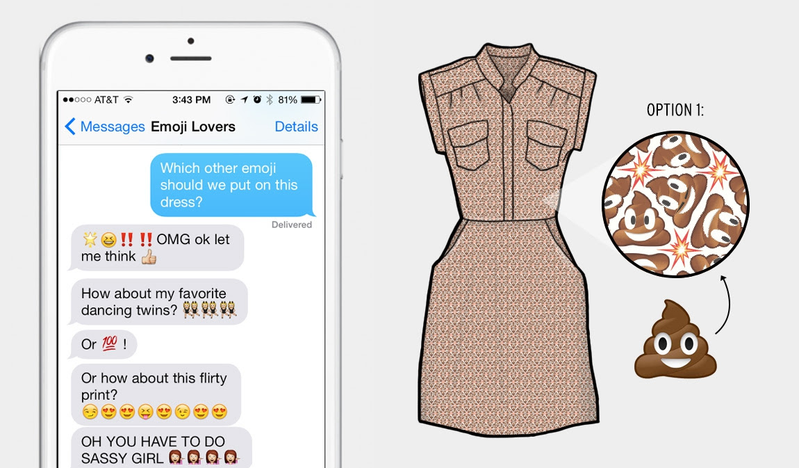 Poo-Emoji Dress