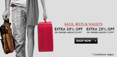 Buy for Rs 1999 or above, get extra 25% Off, buy for Rs 2999 or above get extra 35% Off.See final price in cart