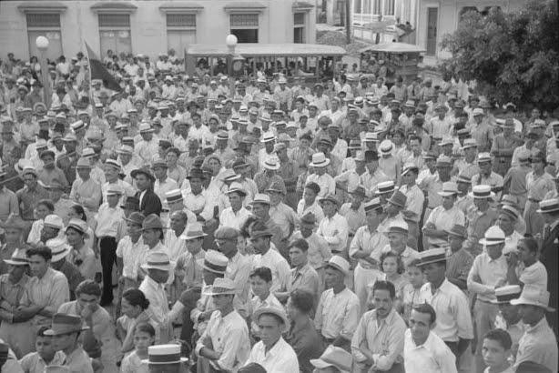 Yabucoa, Puerto Rico. At a strike meeting