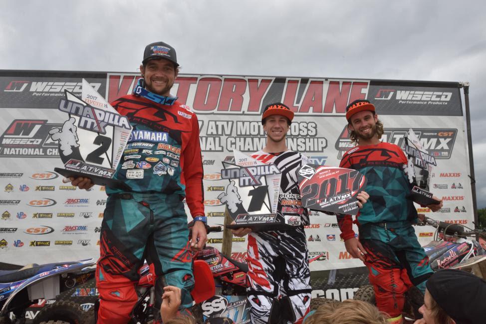 Overall Podium: (2) Chad Wienen, (1) Joel Hetrick, (3) Jeffrey Rastrelli.
