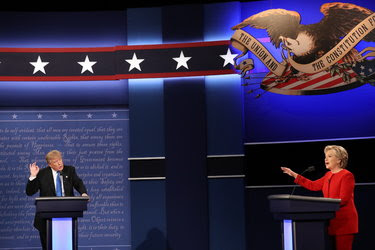 Donald J. Trump and Hillary Clinton at the first presidential debate.