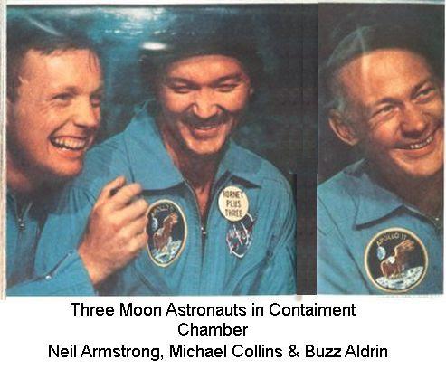Three Astronauts in Chamber