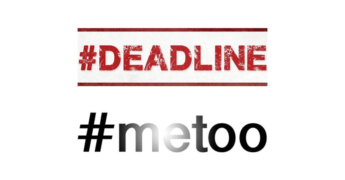Efter #deadline och #metoo