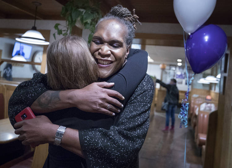 Andrea Jenkins is the first openly transgender black woman elected to public office in the country. (Carlos Gonzalez/Star Tribune/AP)