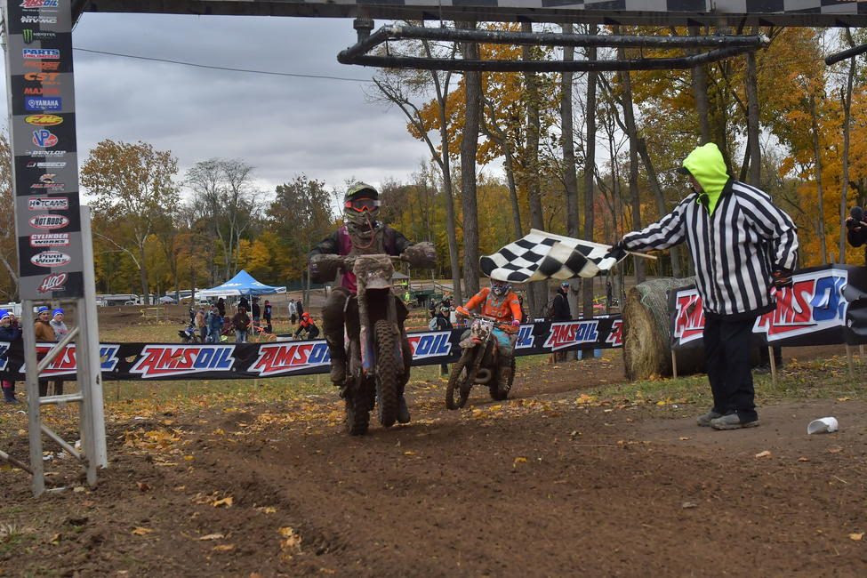 Steward Baylor Jr. claims AMSOIL Ironman GNCC overall win.