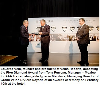 Mexico's Grand Velas Riviera Nayarit Receives AAA Five Diamond Award