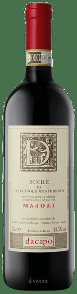 Dacapo Majoli Ruchè di Castagnole Monferrato | Wine Info