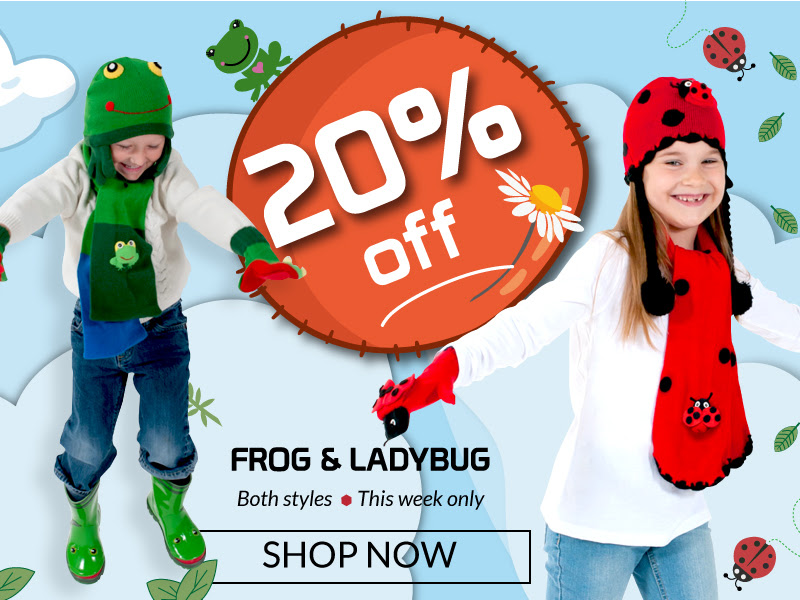 Get 20% OFF all our Frog and L...