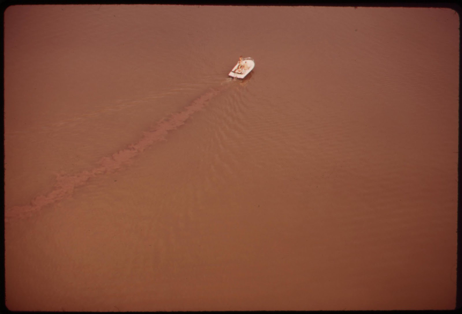 Small Powerboat On The Potomac River Above Mt. Vernon Virginia Stirs Up Silt, April 1973 | by The U.S. National Archives