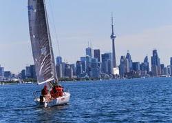 J/80 sailing off Toronto, Canada