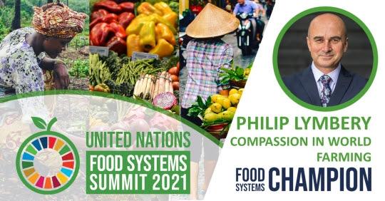 Philip Lymbery sampionem pro potravinove systemy