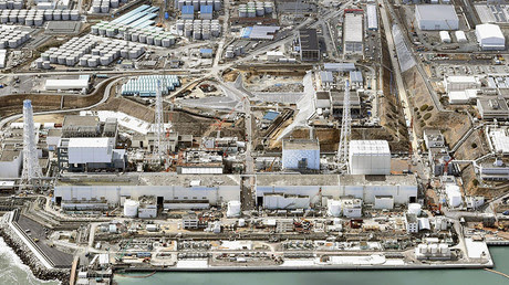 General aerial view of Tokyo Electric Power Co. (TEPCO)'s tsunami-crippled Fukushima Daiichi nuclear power plant in Fukushima prefecture. © Kyodo