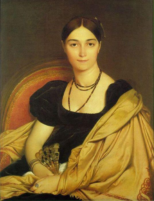5.Жан-Огюст-Доминик Энгр - Портрет мадам DEVAUCAY - 1807. (537x700, 59Kb)