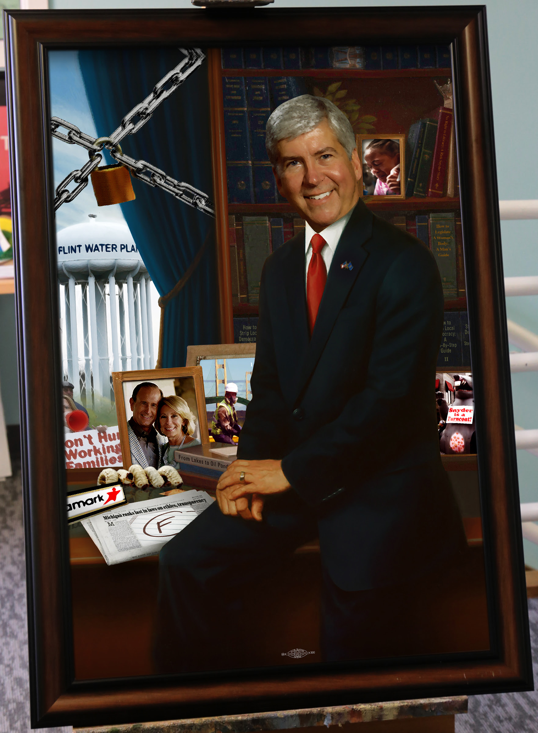 Progress Michigan Unveils the Official Unofficial Rick Snyder Gubernatorial Portrait