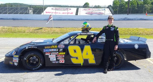 Dylan Caraway with car