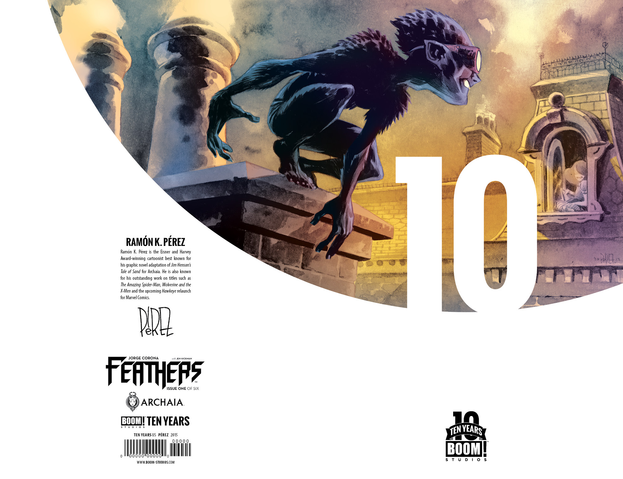 Feathers #1 10 Years Cover