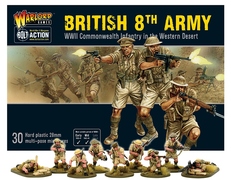 Pre-order Bolt Action British 8th Army Plastic Box Set