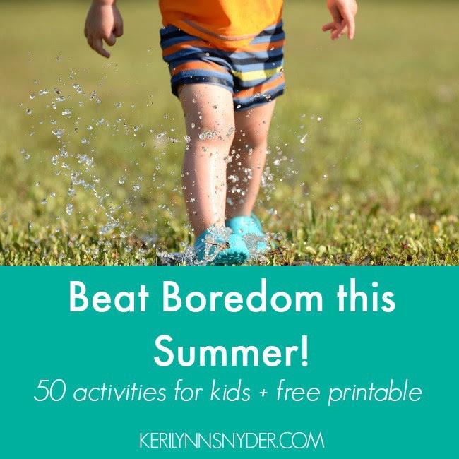 Free Printable Kids' Summer Activities List