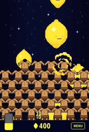 3.ふり注ぐレモンをただ眺めると スコア・崇め人が増えランクアップ