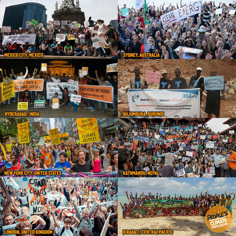 Today more people took to the streets calling for climate action than on any other day in history. From New York City to Rio, London to Delhi — we were everywhere.