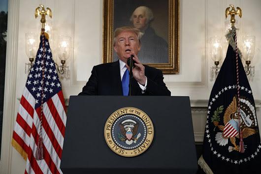 בילד: פרעזידענט טראמפ נעמט שריט קעגן איראן דיעל
