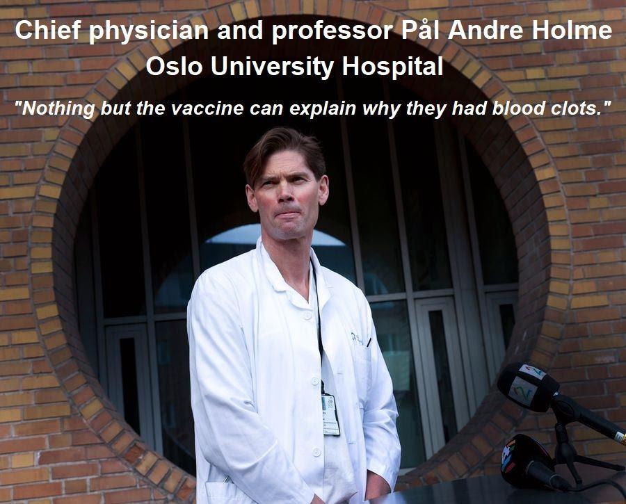 Norwegian Medical Professor Finds Link Between AstraZeneca Vaccine And Fatal Blood Clots Professor-Pål-Andre-Holme-Oslo