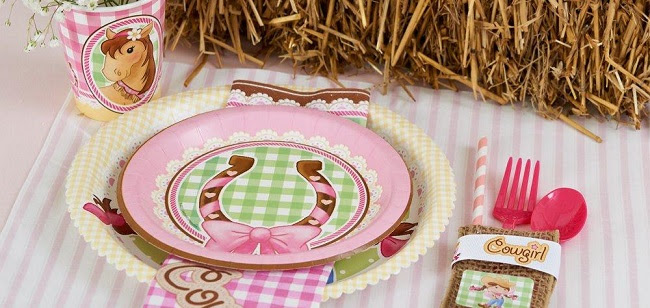 Pink Cowgirl Party Decorations from Birthday Express