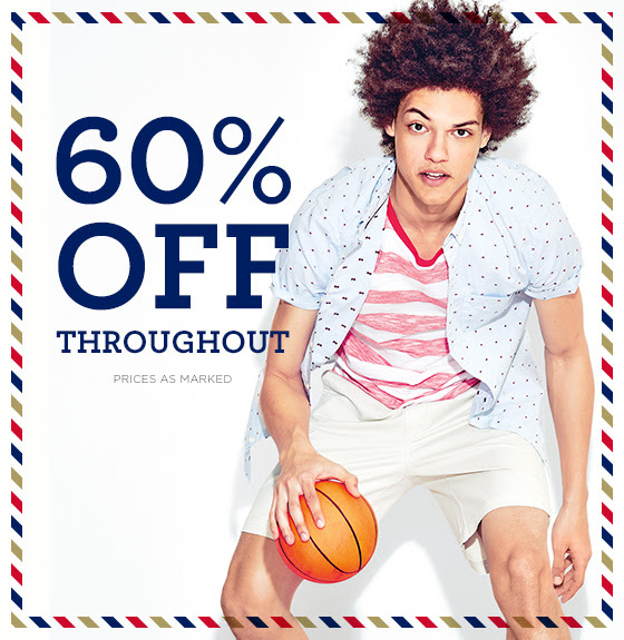 60% Off Throughout Shop Now