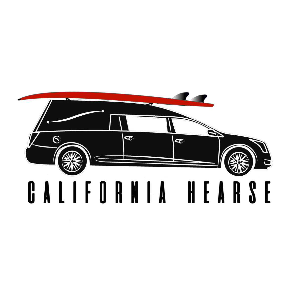 CaliforniaHearse Black ClearBack Square