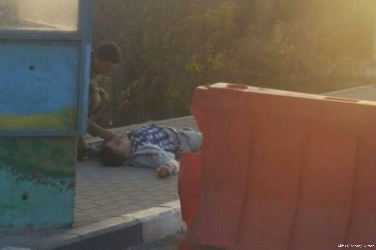 Joven palestino gravemente herido por un disparó del ejército israelí