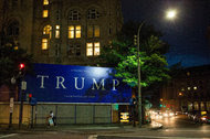 An ad for the new Trump hotel in Washington, seen last month. Donald Trump's new tax proposal adds new breaks for real estate developers like Mr. Trump himself.