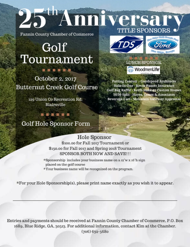 Golf Hole Sponsor Flyer