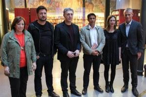 Representantes de la Izquierda Europea durante el encuentro en València.