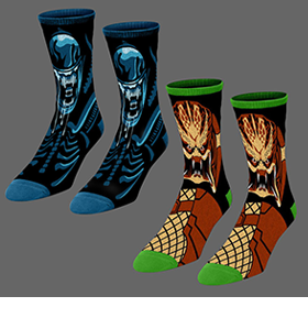 FRIGHT-RAGS HORROR CREW SOCKS & ENAMEL PINS