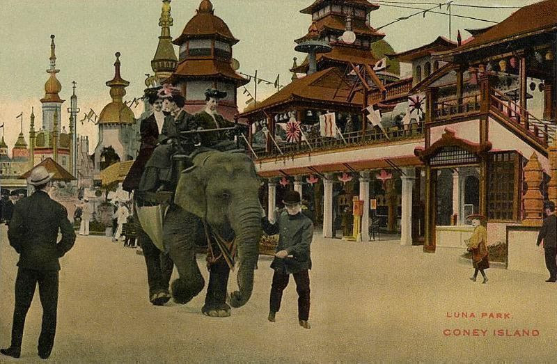 File:Elephant Ride in Luna Park, Coney Island, NY.jpg